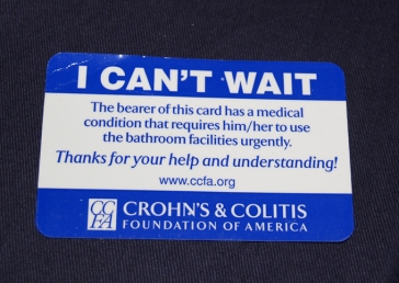 Emergency bathroom card