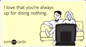 doing nothing ecard